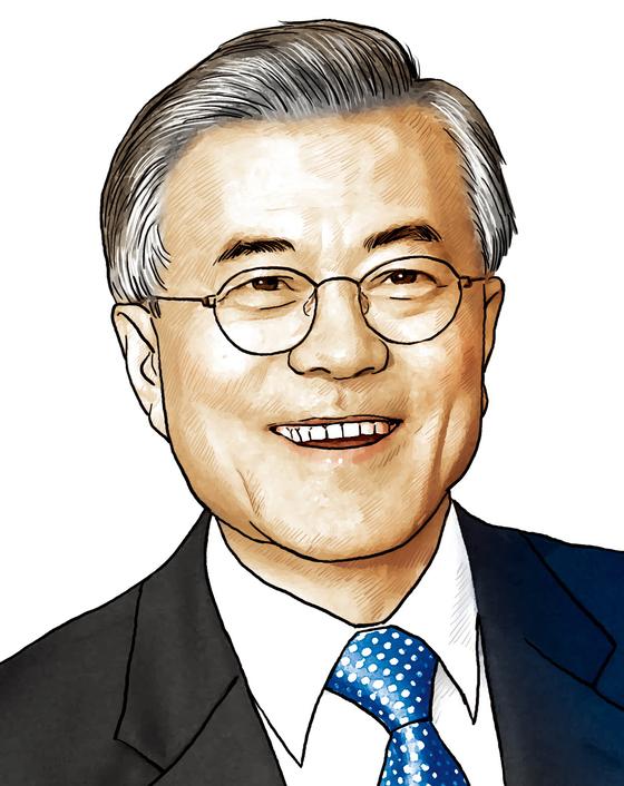 문재인 더불어민주당 대선후보. [중앙포토]