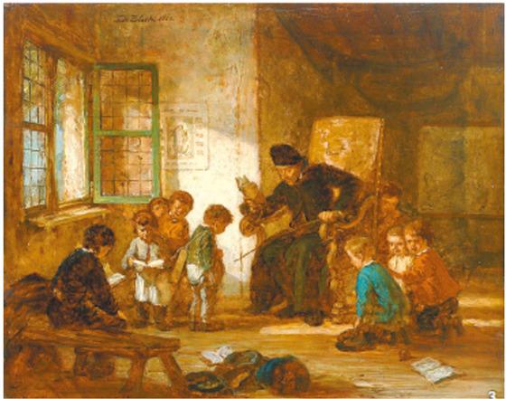 첫사랑이 오래가듯 어린 시절 반복된 기억들이 평생을 지배한다. ('학교의 아이들' 1866, 유진 프란시스)