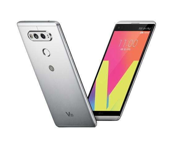 LG전자가 지난해 9월 출시한 스마트폰 'V20' [사진 LG전자]