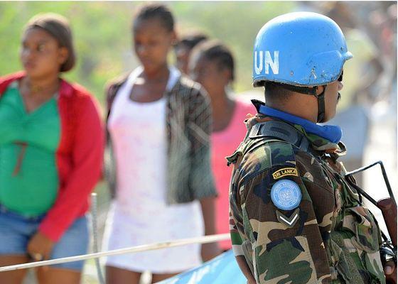 아이티에 파견된 유엔평화유지군. [사진 위키미디어]