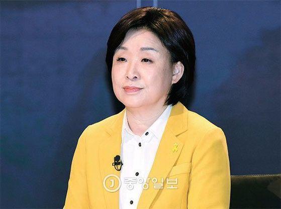 심상정 정의당 후보가 13일 한국기자협회와 SBS가 주최한 대통령 후보 초청 토론회에 참석했다. [국회사진기자단]