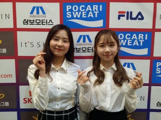 피겨스케이팅 국가대표 김나현(왼쪽)과 최다빈
