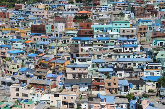 부산 사하구 감천2동에 위치한 '감천문화마을' 전경. 이은지 기자