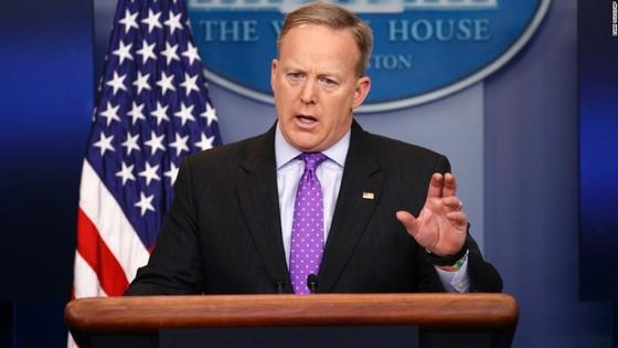 숀 스파이서 미국 백악관 대변인. [사진 CNN 홈페이지]