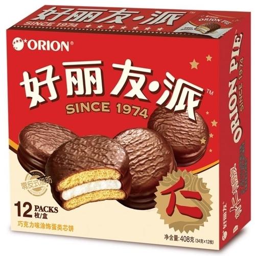 중국에서 '하오리유(好麗友) 파이'로 팔리고 있는 오리온의 초코파이. [사진 오리온]