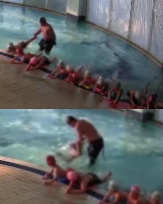 아이가 말을 듣지 않는다는 이유로 고의로 물을 먹인 수영강사가 아동학대 혐의로 경찰 수사를 받고 있다. [사진 부산 사하구]