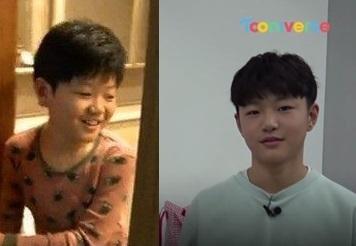 '아빠 어디가' 출연 당시 탁수(왼쪽)와 현재 탁수 [사진 MBC, 투니버스]
