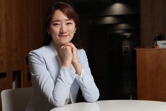 이다혜 4단이 17일 서울 순화동 중앙일보에서 인터뷰를 하고 있다. 우상조 기자