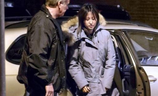 덴마크 현지 경찰에 체포된 정유라씨. [중앙포토]