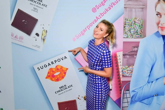 테니스 선수 마리야 샤라포바가 런칭한 사탕 브랜드 '슈가포바' [사진 샤라포바 페이스북]
