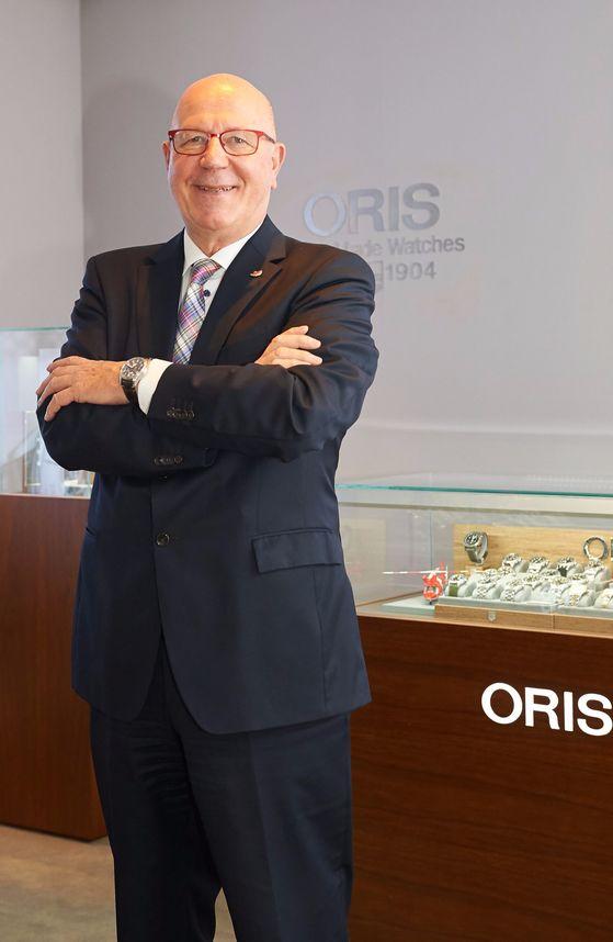 스위스 시계 브랜드 오리스를 이끄는 울리히 헤르초크 회장. [사진 오리스]