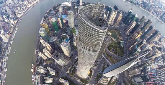 세계 2위 초고층 빌딩 상하이타워. [중앙포토]