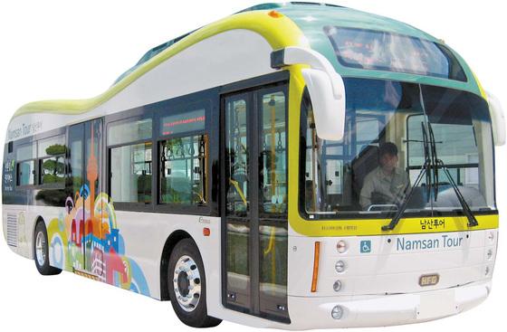 서울시가 적극적으로 추진해 운영하던 남산순환 전기버스 [사진 제조사]