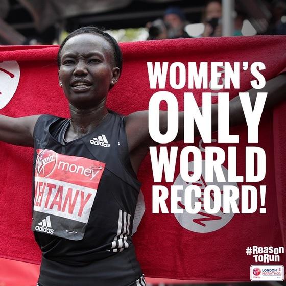 2017 런던 마라톤에서 2시간17분1초로 우승한 케이타니. [사진 런던마라톤 조직위 페이스북]