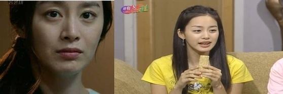 2015년 김태희(왼쪽)와 2002년 김태희. [사진 SBS]