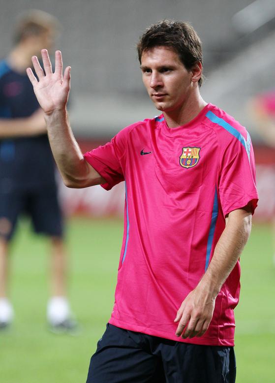 FC 바르셀로나의 엘 클라시코 승리를 이끈 리오넬 메시. [중앙포토]