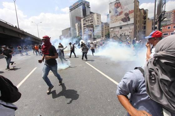 베네수엘라 반정부 시위 [사진 엘나시오날 홈페이지]
