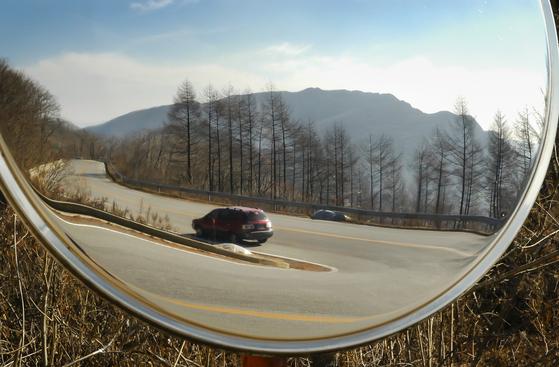 드라이브 하기 좋은 계절, 봄이다. 한국관광공사가 전국 유명 드라이브 코스를 추천했다. 강원도 정선 만항재 오르는 길.