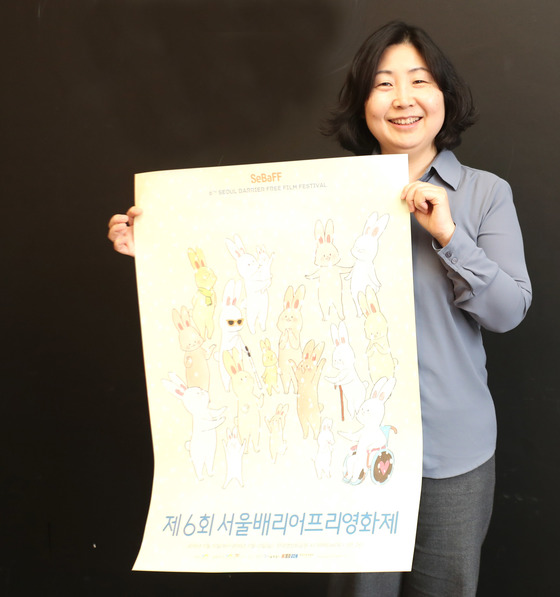 시청각 장애인이 즐길 수 있는 영화를 제작하는 베리어프리영화위원회 김수정 대표. 김춘식 기자