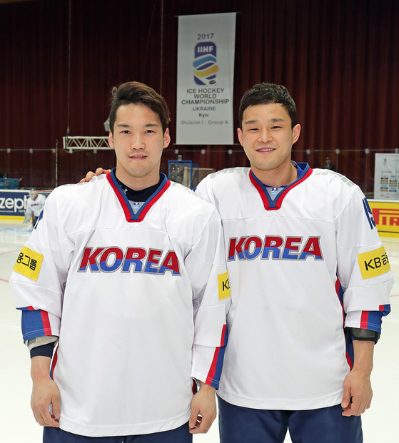 아이스하키대표팀 신상훈과 신상우, 사진=하키포토