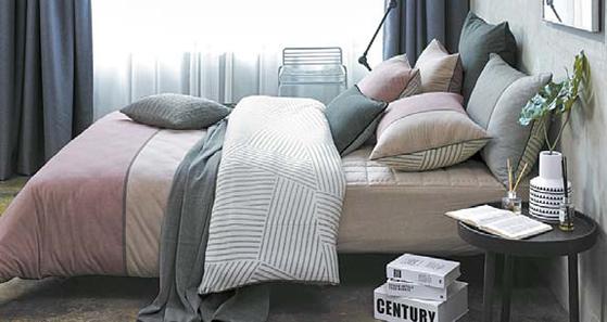 이브자리는 북유럽 트렌드의 디자인을 담은 침구 제품을 선보였다. [사진 이브자리]