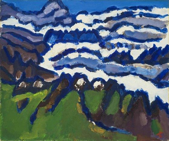 박고석 화백이 그린 '외설악' 1984, 캔버스에 유채, 60.6×72.7㎝.[사진 현대화랑]