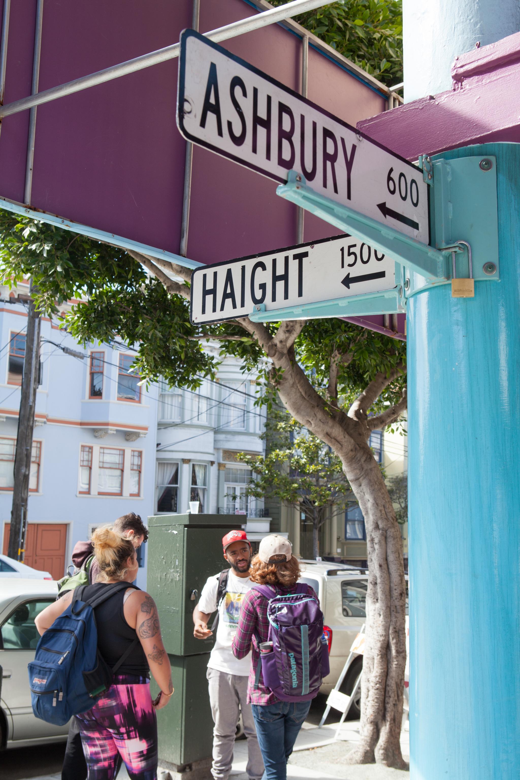 히피 운동의 거점, 헤이트 애시베리 거리.