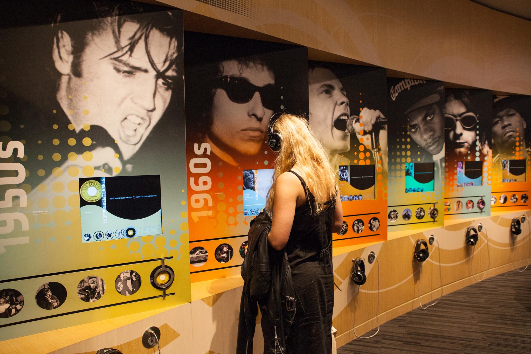 그래미 박물관은 미국 팝의 역사를 볼 수 있는 곳이다.