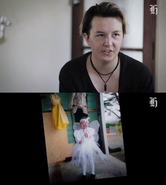 여자로 태어나 성전환 치료를 받다 다시 여성으로 돌아간 자라 쿠퍼(21). [사진 뉴질랜드 헤럴드 영상 캡처]