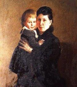 톨스토이의 아내 소냐와 딸 알렉산드라. 톨스토이는 1862년 34세 때 18세이던 소냐를 만나 사랑에 빠졌다. / 김환영