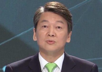 4월 28일 5차 토론의 안철수 후보. [사진 화면 캡처]