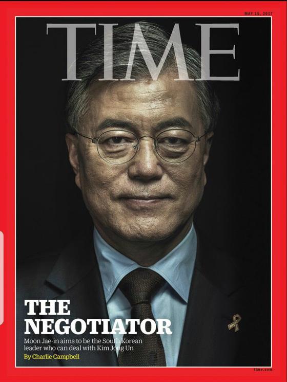 2017년 5월 문재인 더불어민주당 대통령 후보.