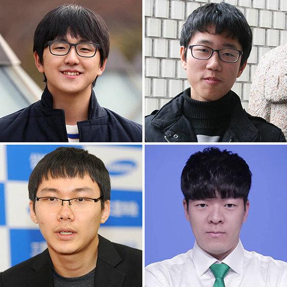 왼쪽 위 시계방향으로 김지석, 안국현, 윤준상, 박정환.