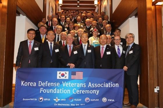 3일 미국 워싱턴의 주미한국대사관저에서 열린 주한미군전우회 발족식에 한ㆍ미의 전직 장성들과 외교 인사 등 150여명이 참석했다. [주미 한국대사관 제공]