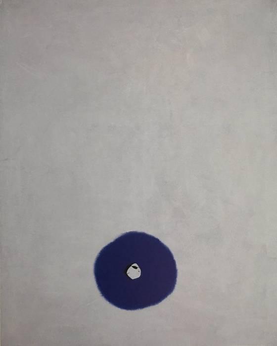 윤양호 작가의 'Zen Geist-아는 것을 버리다', mixed media on canvas, 162X130cm, 2017