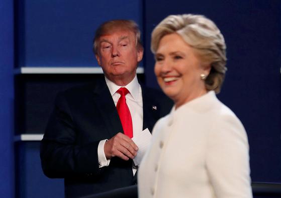 도널드 트럼프 미국 대통령과 힐러리 클린턴 전 미 국무장관. [중앙포토]