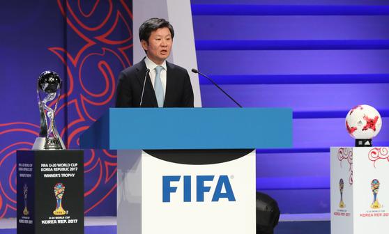 정몽규 대한축구협회장이 2년 임기의 FIFA 최고의결기구 평의회에 아시아 대표로 참여한다. [중앙포토]