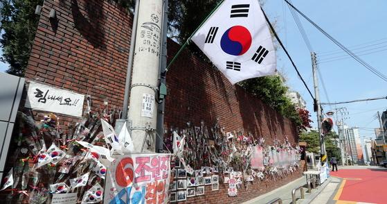 박근혜 전 대통령이 매각한 서울 삼성동 자택 주변 [최정동 기자]