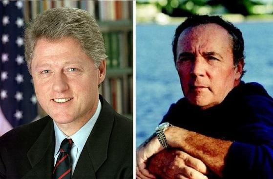 함께 소설을 집필하는 빌 클린턴 전 미국 대통령과 세계적인 베스트셀러 작가 제임스 패터슨. [사진=위키피디아]
