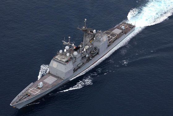 미 해군 순양함 레이크 챔플레인(CG 57). [사진 미 해군]