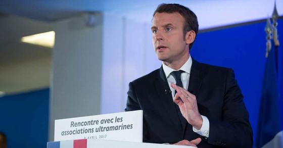 중도신당 앙마르슈의 마크롱 프랑스 대선 후보 [사진 마크롱 페이스북]