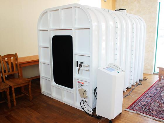 일본기압벌크공업이 제작해 시중에 판매 중인 산소룸. [사진 일본기압벌크공업 홈페이지 캡처]