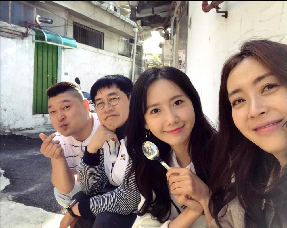 소녀시대 윤아가 자신의 인스타그램에 올려놓은 '한끼줍쇼' 녹화 인증샷.