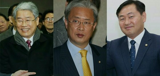 국민의당 원내대표 선거에 출마하는 김동철, 유성엽, 김관영 의원 [중앙포토]