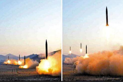 북한의 스커드 미사일 발사 장면. [사진 중앙포토]