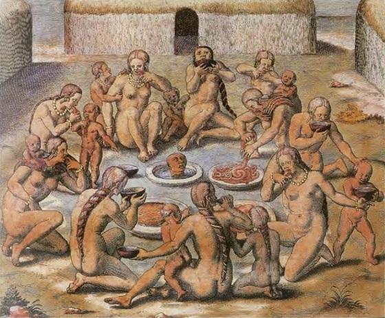 화가 Theodorus de Bry(1528-1598)의 작품 'America tertia pars'(1592). [위키미디어]