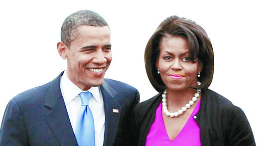 사람들은 유전자가 비슷하고 학력도 비슷한 상대를 배우자로 선호한다고 한다. 버락 오바마와 미셸 오바마는 인종, 큰 키, 고학력이라는 점에서 매우 비슷하다. [로이터=뉴시스]