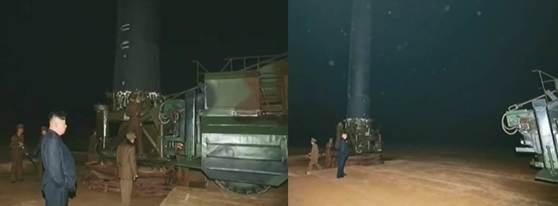 14일 실험과정을 보면 북한은 발사체에서 미사일을 분리한 뒤 실험을 실시했다. [사진 조선중앙방송 캡처]