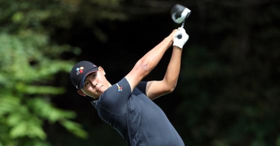 최연소 기록을 세우며 PGA에서 우승한 프로골퍼 김시우. [사진 CJ대한통운]