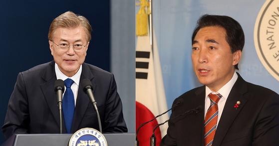 문재인 대통령, 박수현 전 더불어민주당 의원